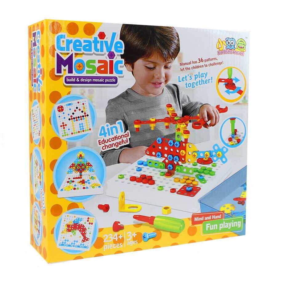 """Детский развивающий конструктор с отверткой """"Creative Mosaic"""""""