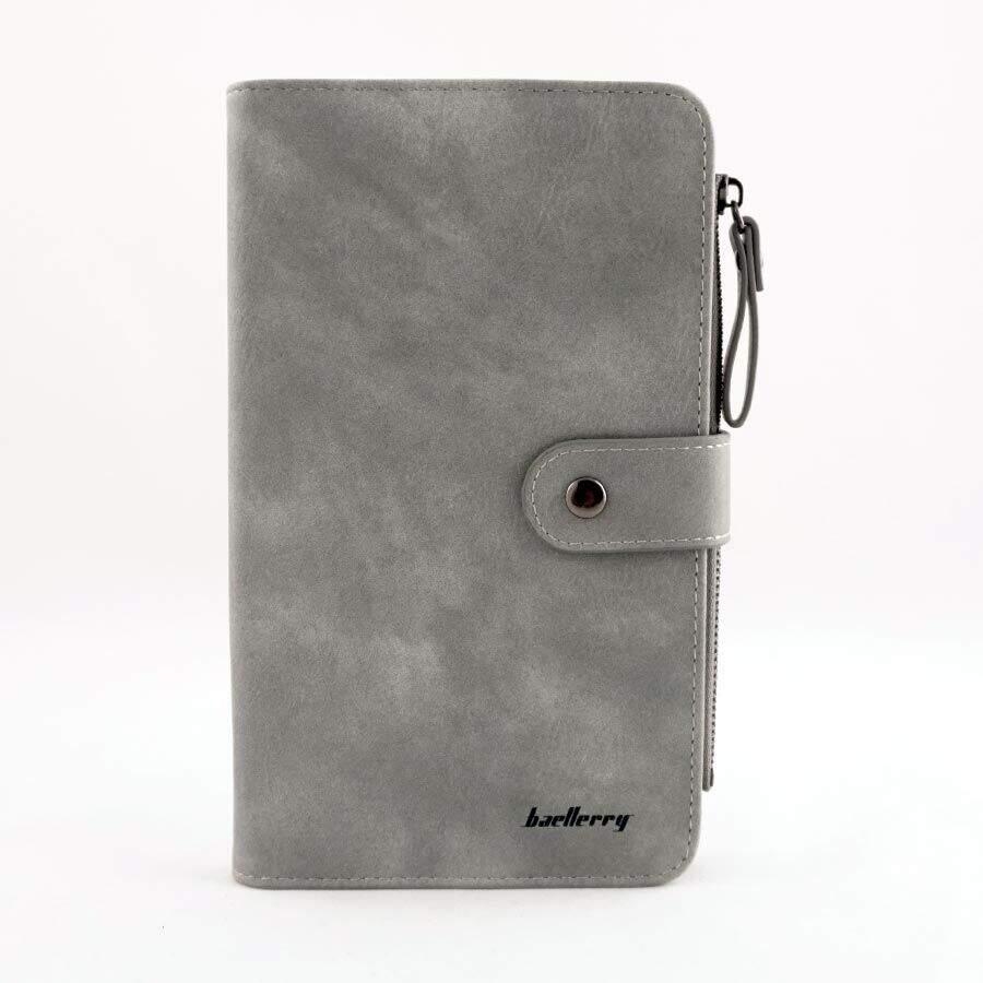 Женское портмоне Baellerry NC224 на кнопке  Серый