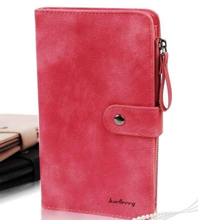 Женское портмоне Baellerry NC224 на кнопке Красный