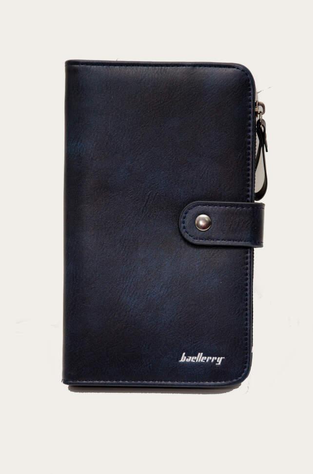 Женское портмоне Baellerry NC224 на кнопке Синий