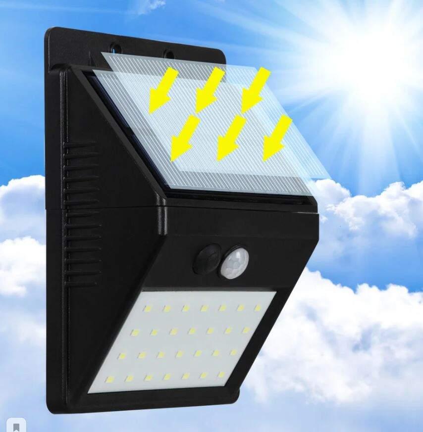 """Светодиодный уличный светильник с датчиком света на солнечной батареей """"Solar Motion Sensor Light"""" 20 светодиодов № JY60009"""