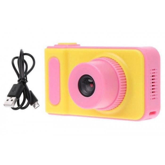 Детский цифровой фотоаппарат Kids Camera (Розовый)
