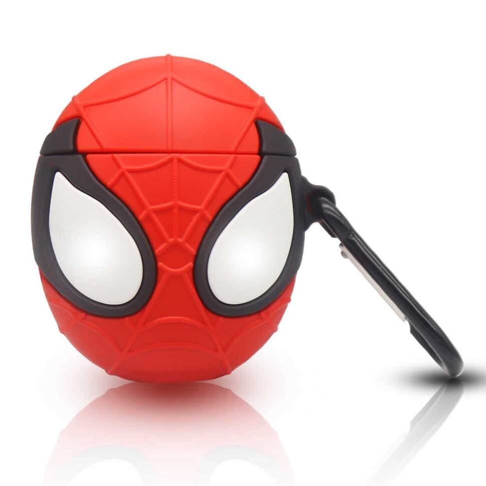 Супергеройский чехол 3 D для наушников силиконовый Человек Паук