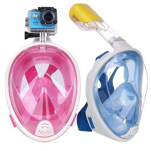 Маска для снорклинга Free Breath с креплением для камеры