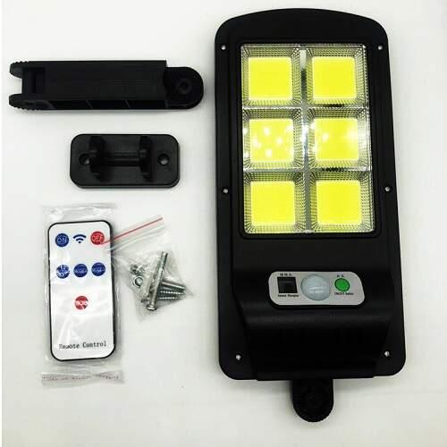 Светильник на солнечной батарее с датчиком движения 2128-4/6 светодиодный + пульт