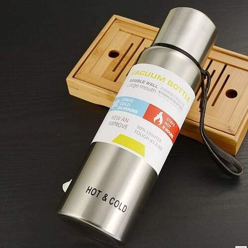 Термос 1 литр из нержавеющей стали