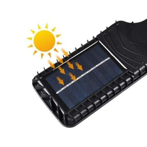 Светодиодный светильник с датчиком движения JX-616A на солнечной батарее