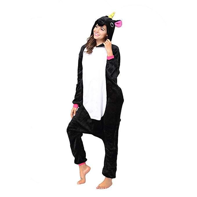 Пижама Кигуруми Единорог Черный