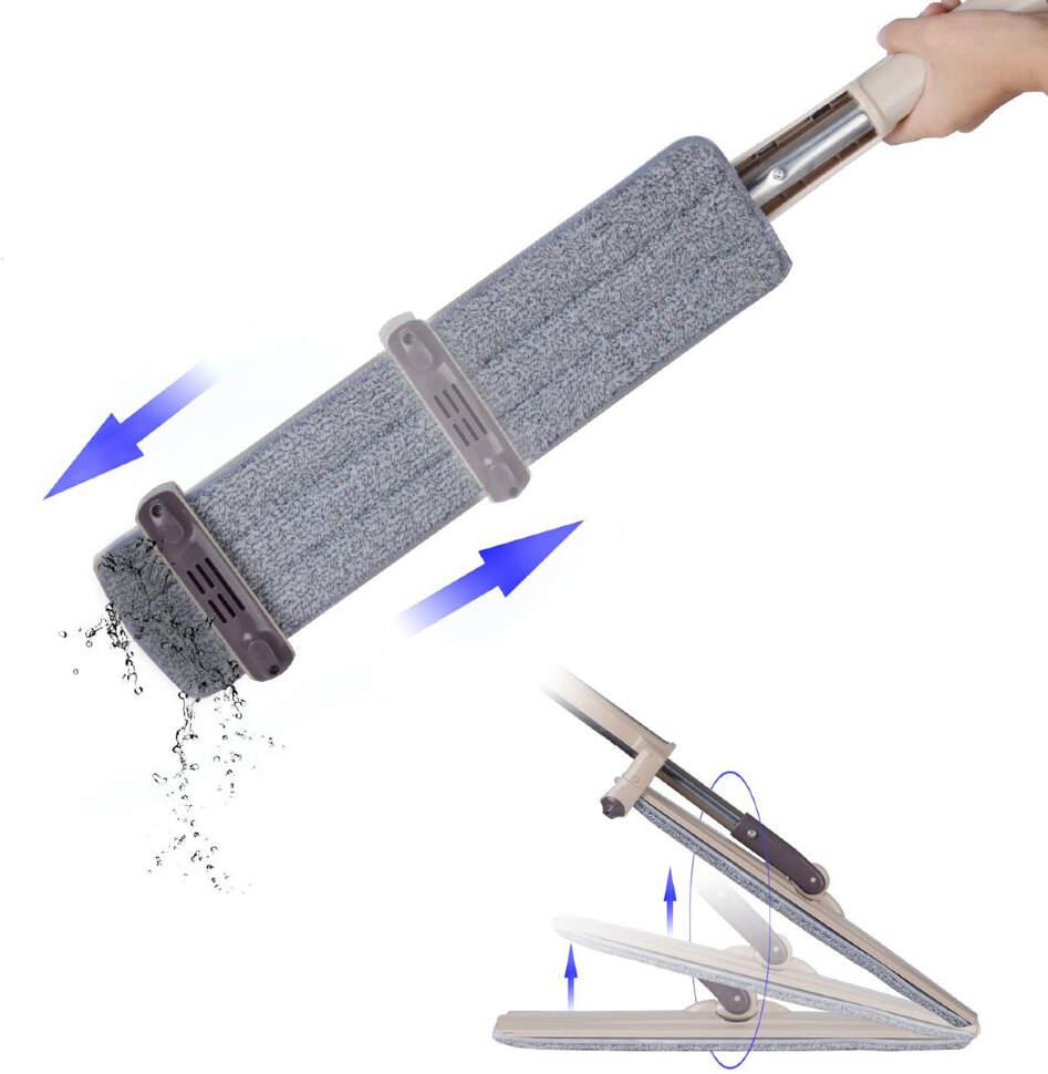 Швабра с отжимом Hand-free flat mop