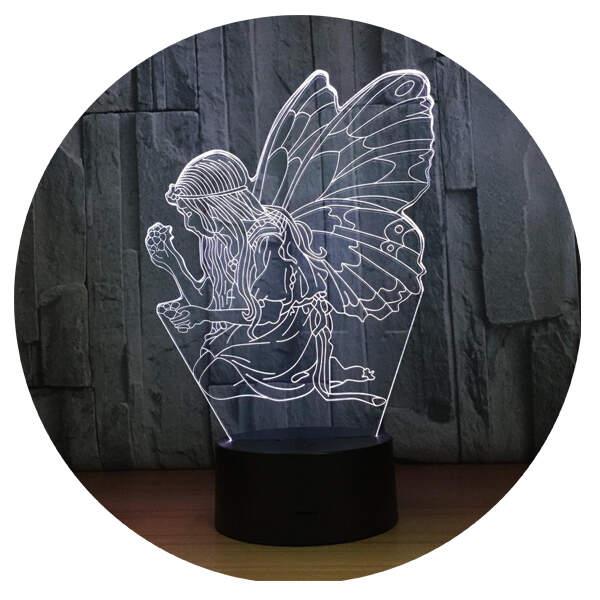 3D светильник Фея