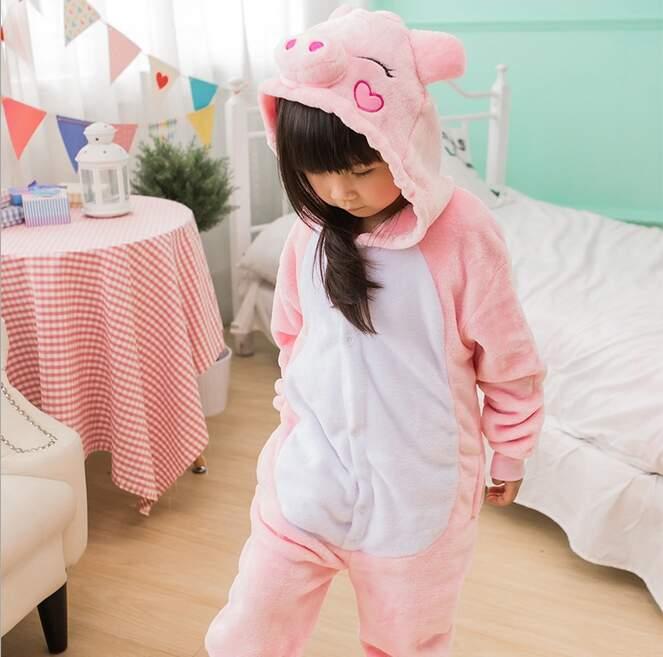 Детская Пижама Кигуруми Свинка Розовая