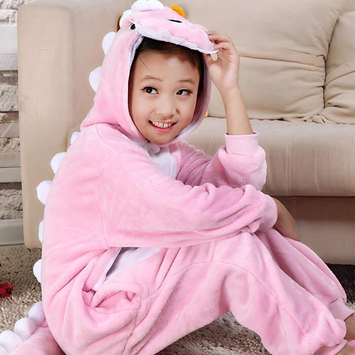Детская Пижама Кигуруми Дракончик Розовый