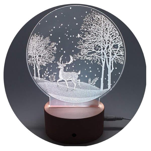 3D светильник Олень в лесу