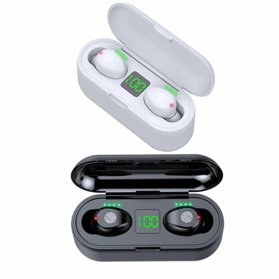Беспроводные наушники Bluetooth 5.0 F9 со светодиодным дисплеем
