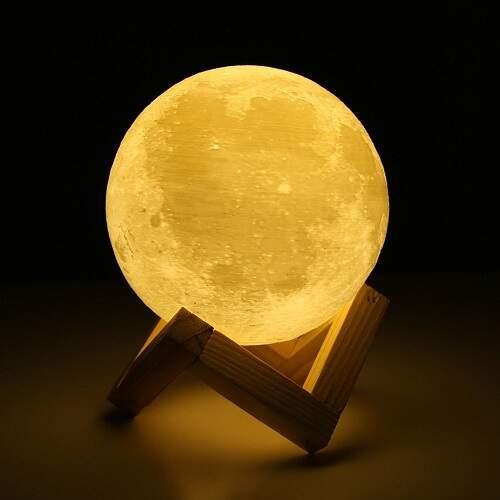 Ночник Луна 3d 12 см с пультом