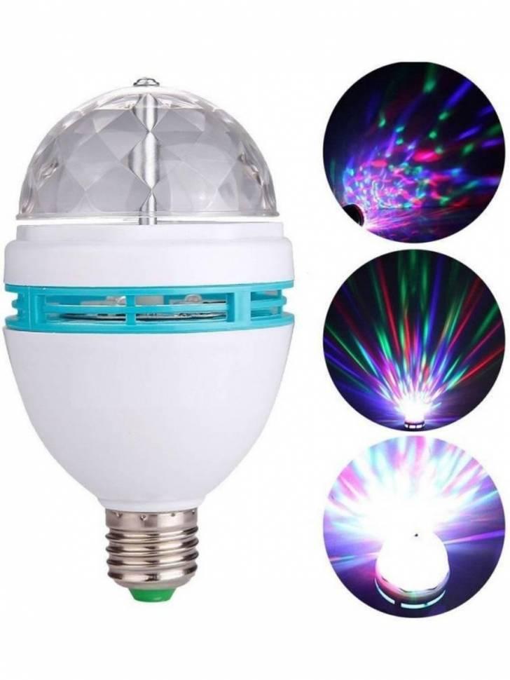 "Светодиодная ""Диско-лампа"" Neon Night E27/3W/220В/RGB (NG-399)"