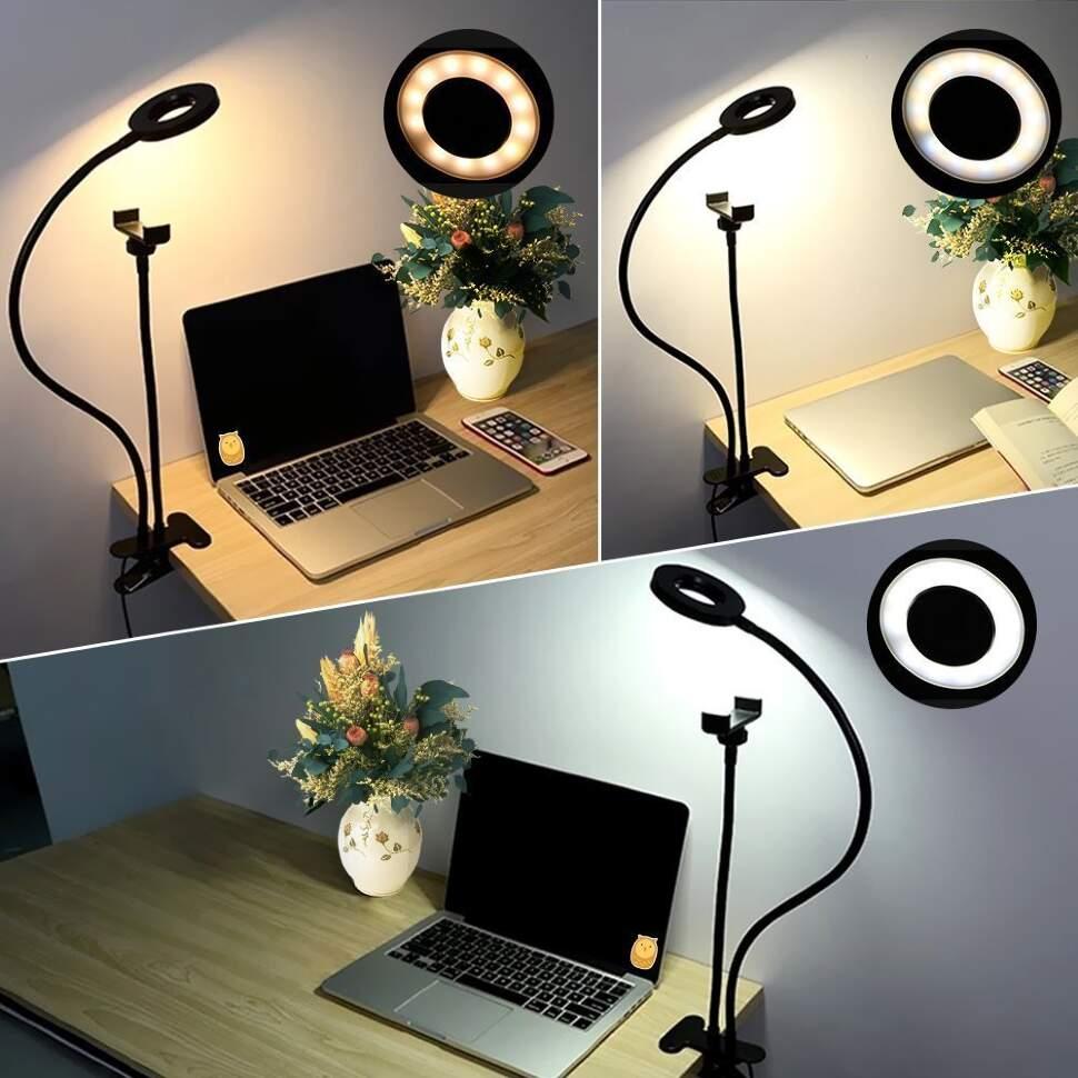 Гибкий держатель с LED подсветкой Professional Live Stream