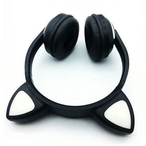 Беспроводные наушники со светящимися ушками кошки Cat Ear ZW-028