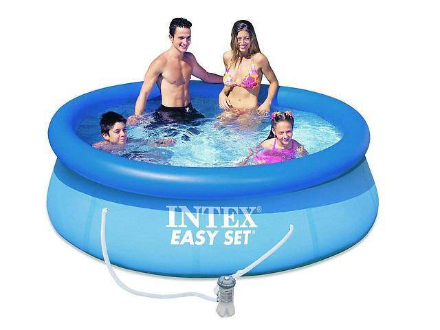 """Надувной бассейн Intex """"Easy Set"""" (244x61 см.) артикул 56979 + фильтр и насос 220 вольт в комплекте"""