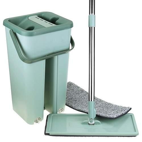 Швабра с отжимом и ведром на 8 литров Scratch Cleaning Mop