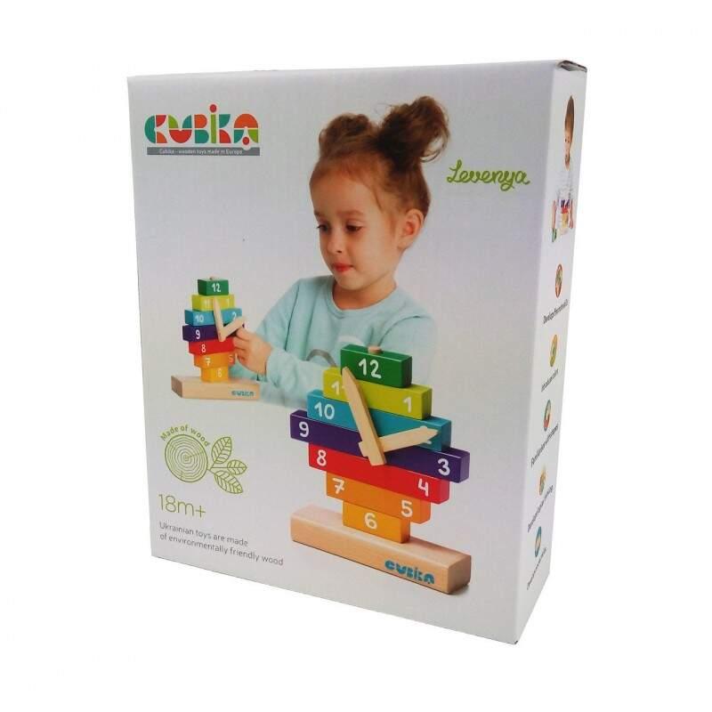 """Деревянная игрушка """"Часы Пирамида"""" CUBIKA"""