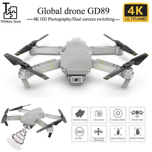 Квадрокоптер с камерой Globaldrone GD89