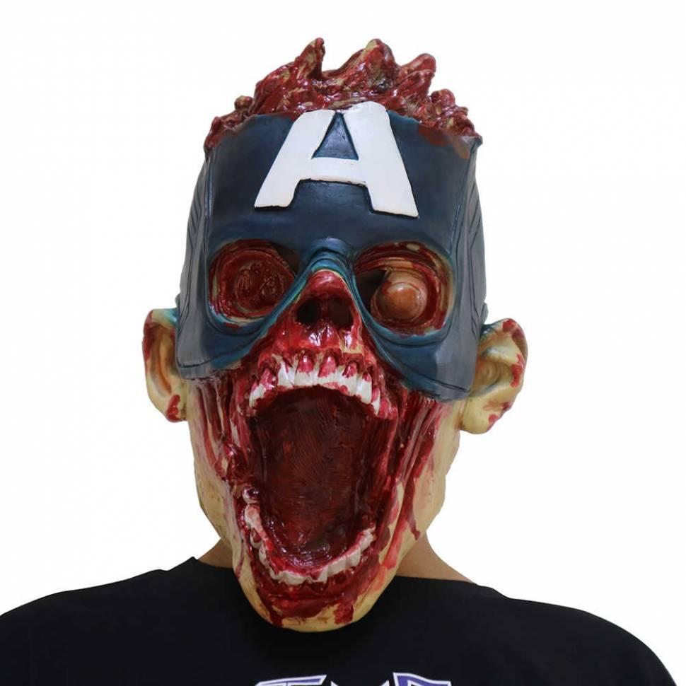 """Маска зомби """"Капитан Америка"""""""