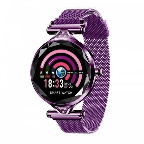 Женские смарт часы H1 Пурпурные