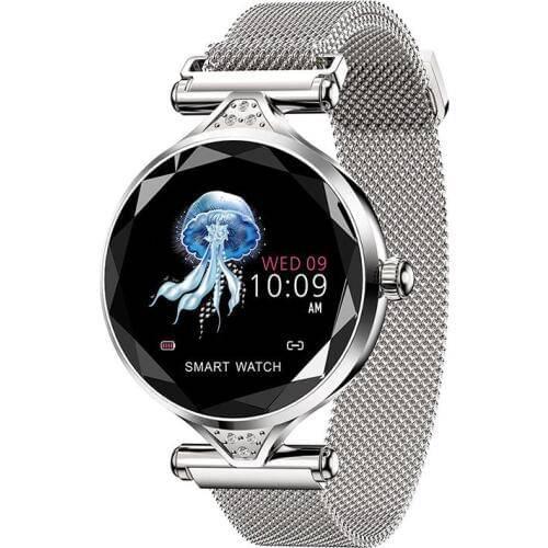 Женские смарт часы H1 Серебрянные