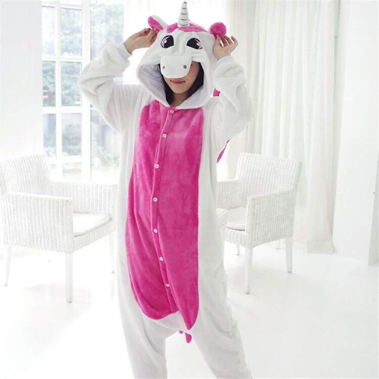 Пижама Кигуруми Единорог Бело-розовый