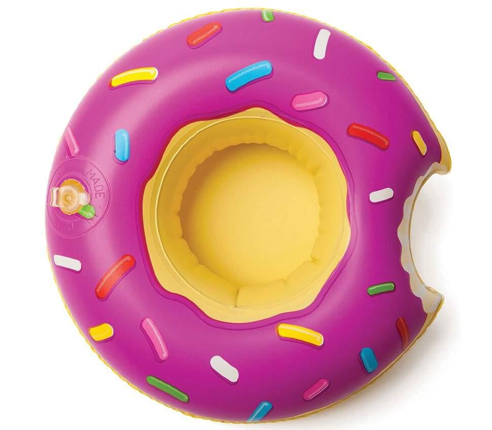 """Надувной подстаканник """"Пончик фиолетовый"""" 20 см"""