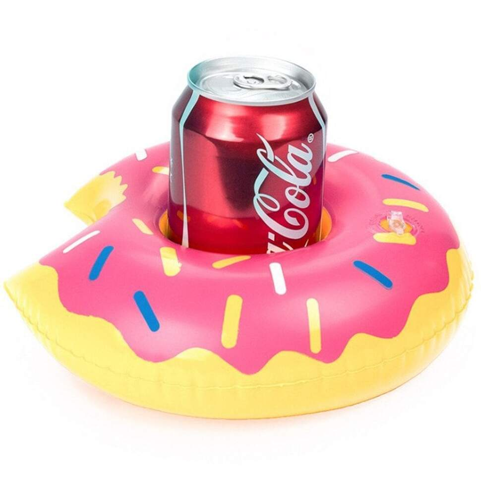 """Надувной подстаканник """"Пончик розовый"""" 20 см"""