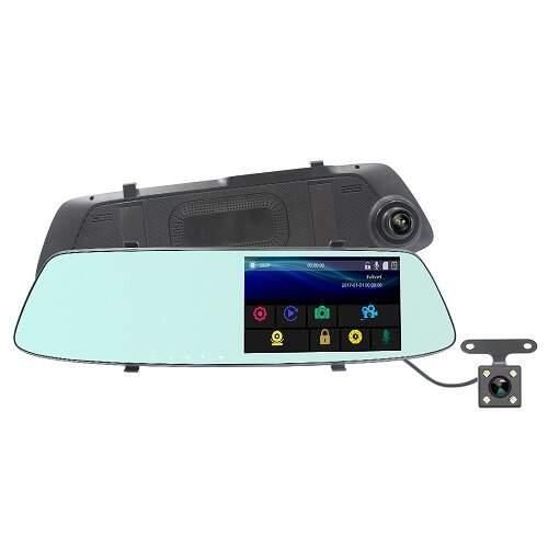 Видеорегистратор-зеркало с камерой заднего вида и сенсорным экраном