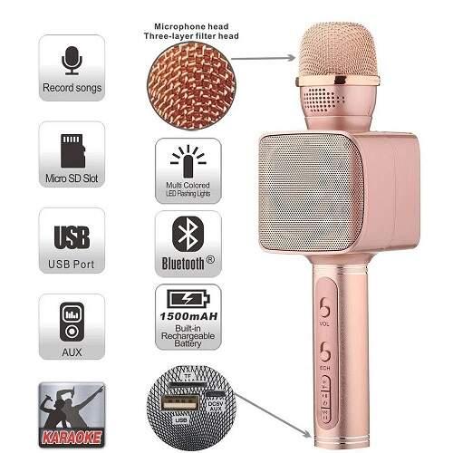 Беспроводной микрофон для караоке с динамиками YS-68