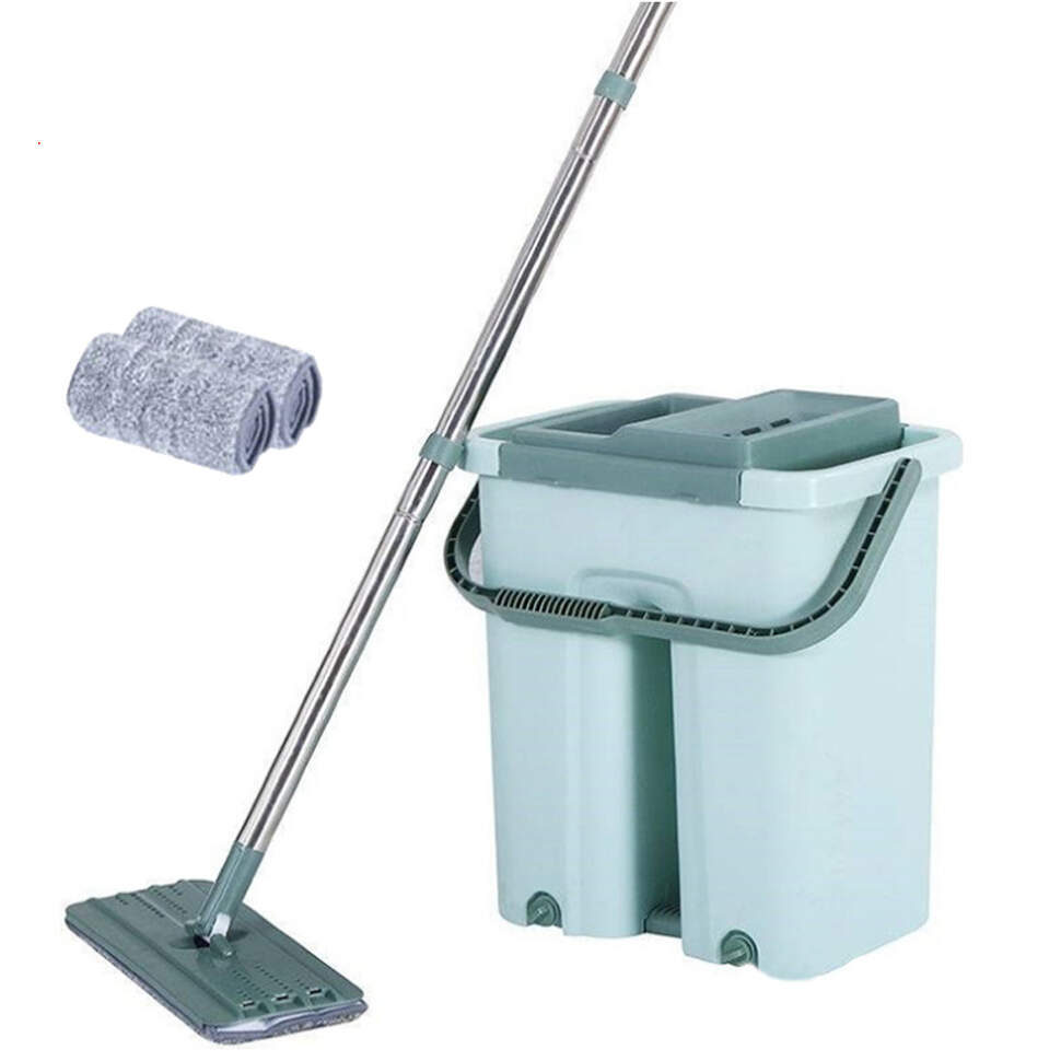 Комплект для уборки швабра с отжимом и ведром на 12 литров Scratch Anet Up and Down