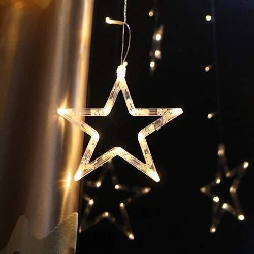 Гирлянда-штора светодиодная Five-Pointed Star