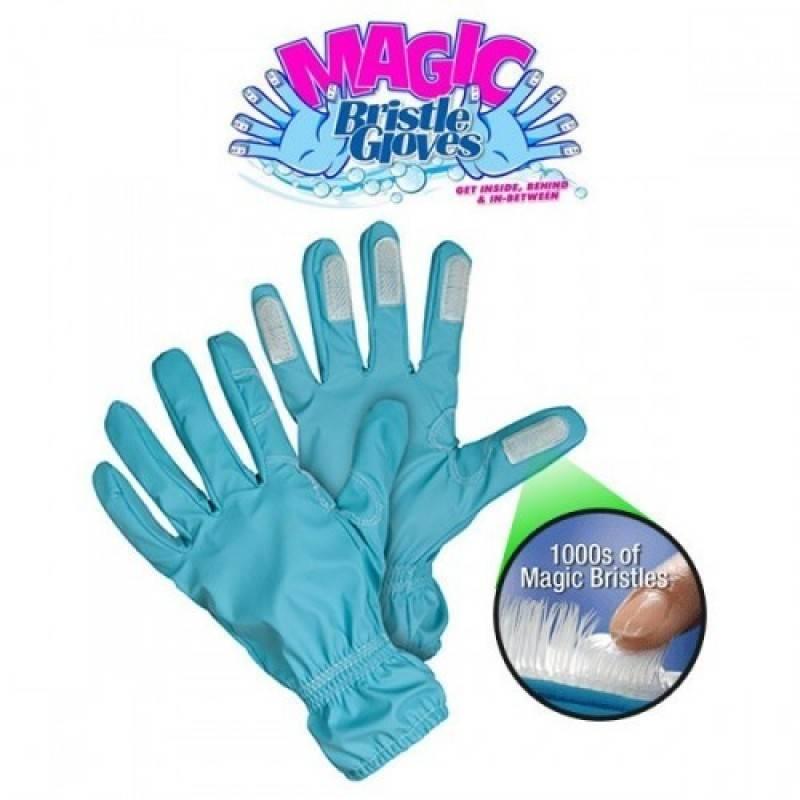 Перчатки-щетка для уборки Magic Bristle Gloves