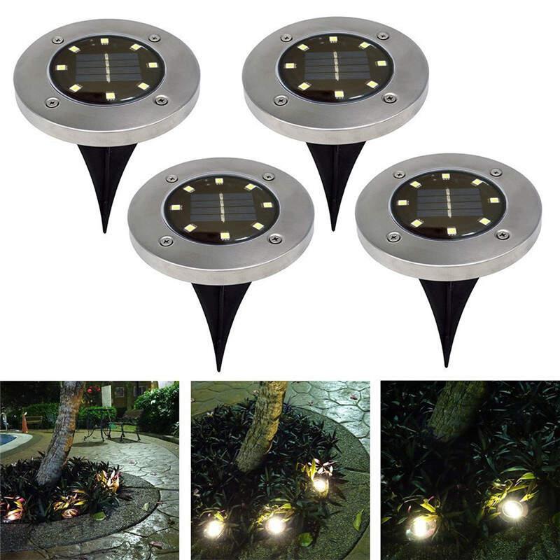 "Водонепроницаемый садовый светильник на солнечных батареях ""Disk Lights 8 LED"""
