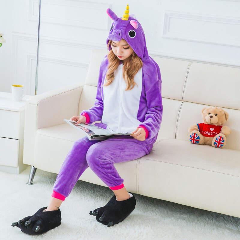 Пижама Кигуруми Единорог Фиолетовый