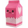 "Игрушка-антистресс Сквиш ""Пакет молока"" Розовый"