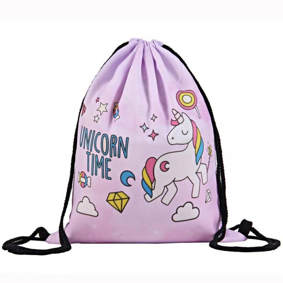"""Сумка-мешок для сменной обуви """"Unicorn Time"""""""