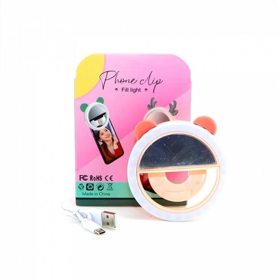 Селфи кольцо для телефона Phone clip fill light