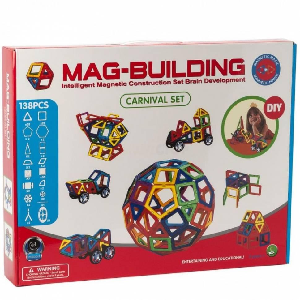 Магнитный конструктор Mag-Building 138 деталей