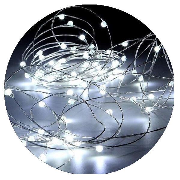 Гирлянда нить-роса микродиод LED 10м/100л