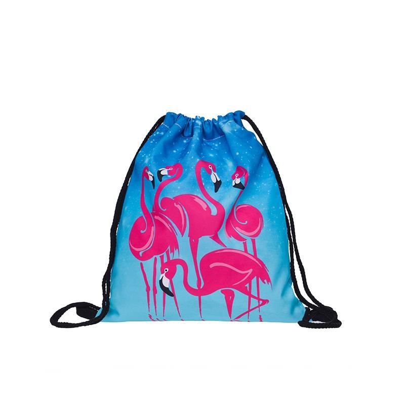 """Сумка-мешок для сменной обуви """"Фламинго"""""""