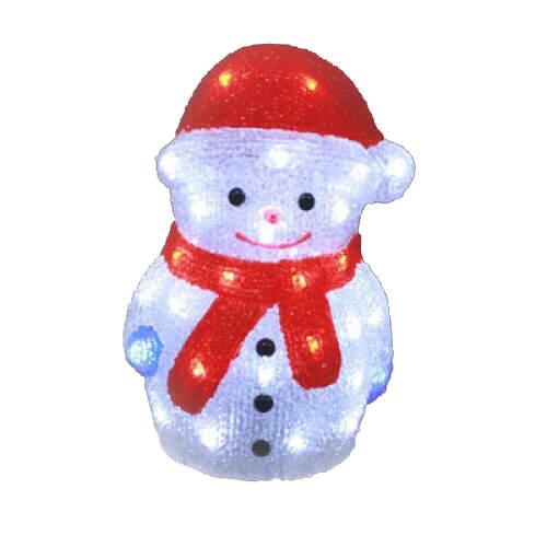 Светящийся Снеговик акриловый 35х25 см.