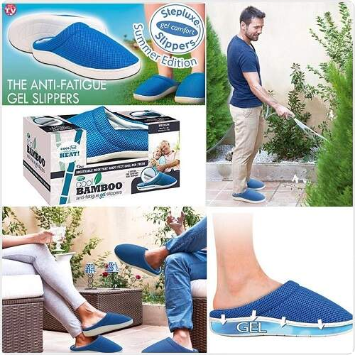Тапочки бамбуковые Cool Bamboo Anti-Fatigue Gel Slippers