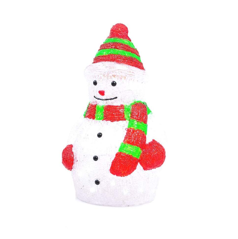Светящаяся фигурка Снеговик 60x40 см.