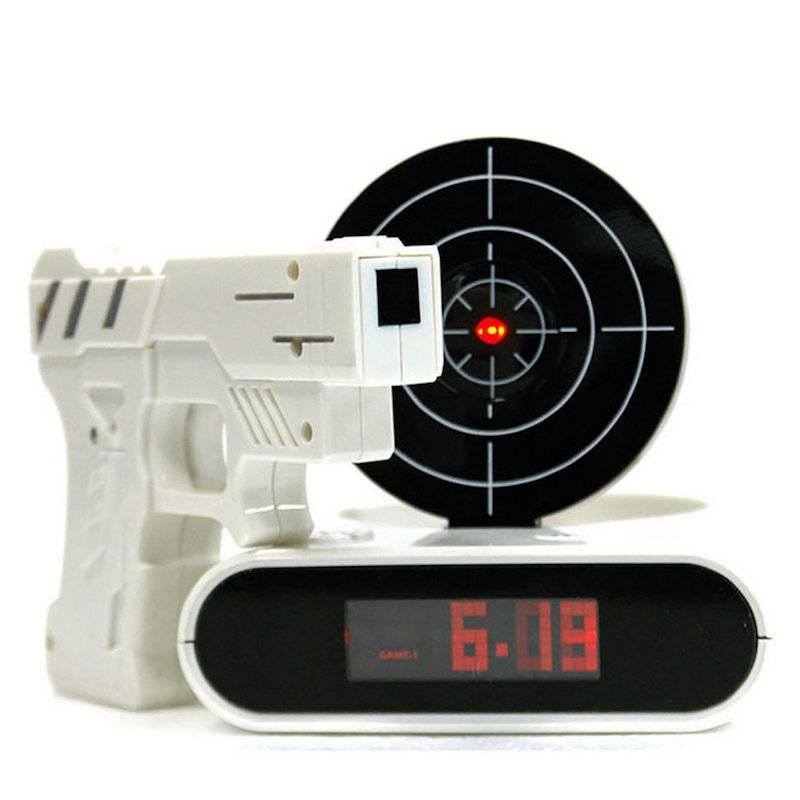 Будильник с мишенью Gun Alarm Clock