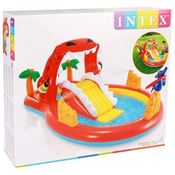 """Надувной центр INTEX """"Счастливый динозавр"""" 57160"""